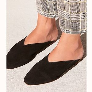 NIB Free People Black Leather Callie Flats Size 7